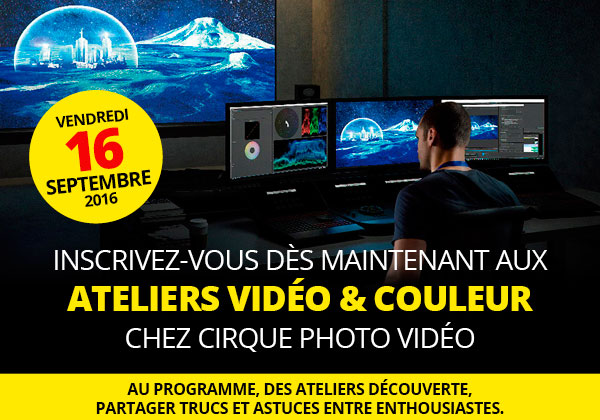 Journée atelier vidéo chez cirque photo vidéo.